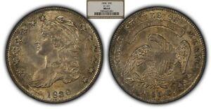 1836 50c Capped Bust Silver Half Dollar - PQ Coin - O-101 - NGC MS63 - SKU-B1002
