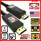 Display Port to HDMI Cable DP Adapter Converter Audio Video PC HDTV 1080P 60Hz