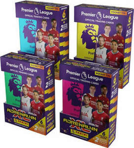 1 x 2020 2021 PANINI Adrenalyn EPL Pocket Tin 4 Packs 2 Limited Soccer Cards