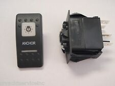 ANCHOR LIGHT SWITCH V1D1G66B BLACK CARLING CONTURA II 2 WHITE LENS NAVIGATION