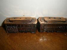 San Francisco Cable Car Salt & Pepper Shaker Set Vintage Metal Cork Stopper