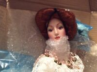 CHARLES DANA GIBSON VINTAGE BISQUE COMMEMORATIVE BRIDE DOLL BY FRANKLIN MINT