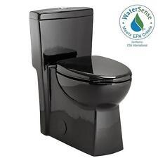 Schon 1-piece 1.28 GPF Dual Flush Elongated Toilet in Black