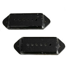A Pair of P-90 p90 Dog-ear Guitar Pickup Covers BLACK (C42) D9G8