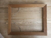 "Picture Frame Wood inside dim. apx 16 x 12.5"" Shabby Flea Market"