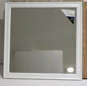 "Beveled Wall Mirror, 16"" x 16"", white Mainstays"
