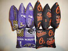 8 Cornhole Bean Bag Tailgate Toss Set Baltimore Ravens & Orioles