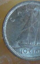 1937 CCCS AU-55 Canadian **Double**ERROR** 10 Cent