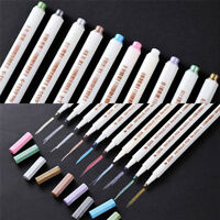Metallic Marker Ceramic Porcelain Rock Glass Painting Wood Pens Kit Paint 10 new