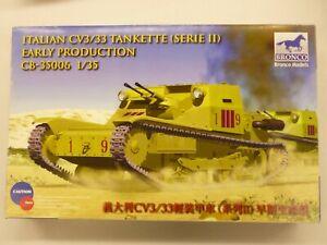Bronco1/35 Italian CV3/33 Tankette Series II Early Production Model Kit # 35006
