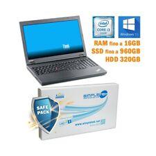 "COMPUTER NOTEBOOK LENOVO THINKPAD T540P I3 4000M 15,6"" DVD-RW WINDOWS 10 PRO-"