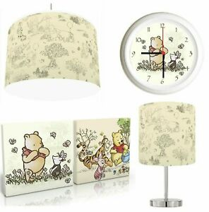 CLASSIC WINNIE THE POOH choose from Lampshade, Lamp , Wall Art , Clock or Bundle