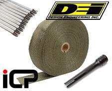 "DEI Titanium Heat Exhaust Wrap, Stainless Ties & Tool Kit 2""x100FT Roll"