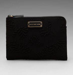 "Marc Jacobs 10"" Tablet Case Mareika Deboss Neoprene Sleeve Black"