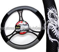Mesh Look Black Grey Dragon Car Steering Quality CarPoint Wheel Cover Glove