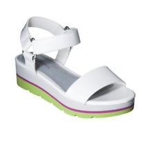 Cherokee Girls Kids Gracia Platform Sandals, White - Pink & Lime, Size 1