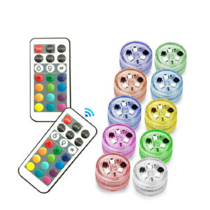 1 Pcs RGB Submersible Diving Waterproof LED Lamp Remote Control Color Change NEW