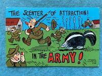 The scenter of attraction in the Army! Vintage Postcard