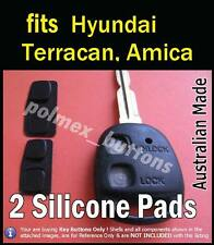 suits Hyundai Amica Terracan Atos remote key fob- Silicone key Buttons (2 sets)