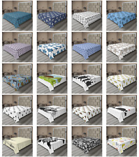 Ambesonne Turtle Pattern Flat Sheet Top Sheet Decorative Bedding 6 Sizes