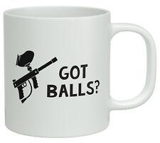 Got Balls? Funny Paintball White 10oz Novelty Mug Fire Aim Birthday Gift