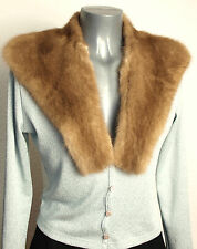 Kragen Nerz Fellkragen Vintage Pelz Mink Collar Nähen Basteln Natur Nougat Braun
