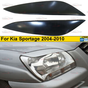 Eyebrows Eyelid Cover for lights for the Kia Sportage 2004-2010