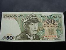 polskie banknoty 50zł-1988r gen.Karol Świerczewski