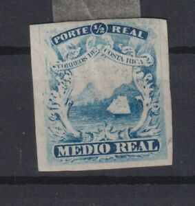 Costa Rica ½ real just four margins proof, scarce (Z6)