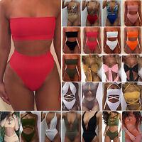 estate donna a Vita Alta PUSH UP bikini costume intero da bagno wear spiaggia