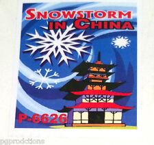 White SNOWSTORM IN CHINA Magic Trick Paper Confetti Tablets Snow #10 Load Set