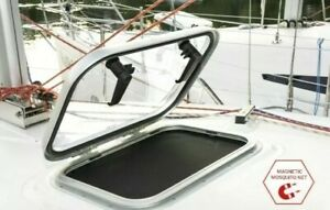 Boat Caravan Hatch Window 444mm x 326mm with MAGNETIC MOSQUITO NET