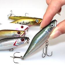 2pcs Fishing Lures 3D Eye Floating Minnow Crank Baits Poper Lure Fishing Bait