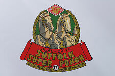Suffolk Super Punch Vintage Mower Repro Chain Cover Decal