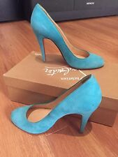 Christian Louboutin Teal Suede Pigalle (org $695)- Size 361/2