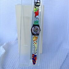 SWATCH WATCH VINTAGE COLLECTIBLE 1993 'BIG ENUFF' NEW NEVER WORN FUN WATCH