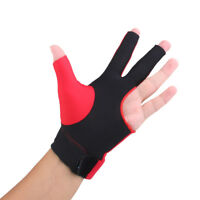 Red Spandex Pro Snooker Billiard Pool Table Cue Glove Left Hand Three Finger