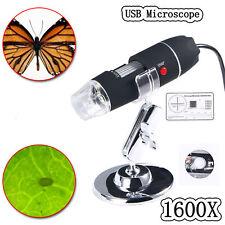 1600X USB Digital 8 LED Mikroskop Lupe Endoskop Microscope Kamera für Handys PC