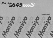 MAMIYA M645 1000S INSTRUCTION MANUAL FREE SHIP