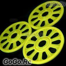 3x Yellow Main Drive Gear for T-REX 450 SE V2 GF XL S Pro Sport (RHS45155-02)