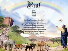 """""""Noah's Ark 2"""" Name Meaning Prints Personalized (Child's Room, Religious)"""