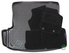 SKODA OCTAVIA mk1 HTB SALOON 98-04 Tailored black floor car mats + boot tray mat