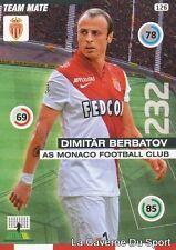 126 DIMITAR BERBATOV BULGARIA AS.MONACO CARD ADRENALYN 2016 PANINI O