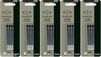 15 X Parker Quink Ink Cartridges Black Color for Fountain Pen New Made in France