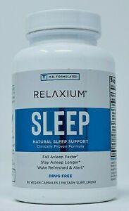 Relaxium Sleep 60 Vegan Capsules - New/Sealed EXP 6/2023 - Natural Sleep Support