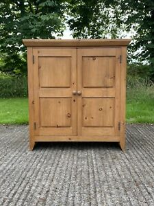 Large Deep Solid Pine  School Cupboard Hall Linen Storage Bookcase Cabinet