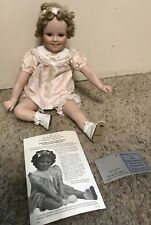 "Shirley Temple ""Little Miss Shirley"" Porcelain Doll by Danbury Mint"