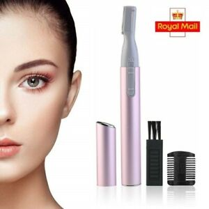 Eyebrow Trimmer Precision Razor for Women Electric Facial Hair Remover with Comb