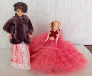 Clone lot doll vintage homemade dresses rooted hair faux fur coat lace props