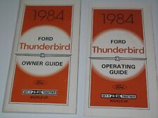 1984 Ford Thunderbird Owner'S Manual And Operating Guide Nos Original 1St Print